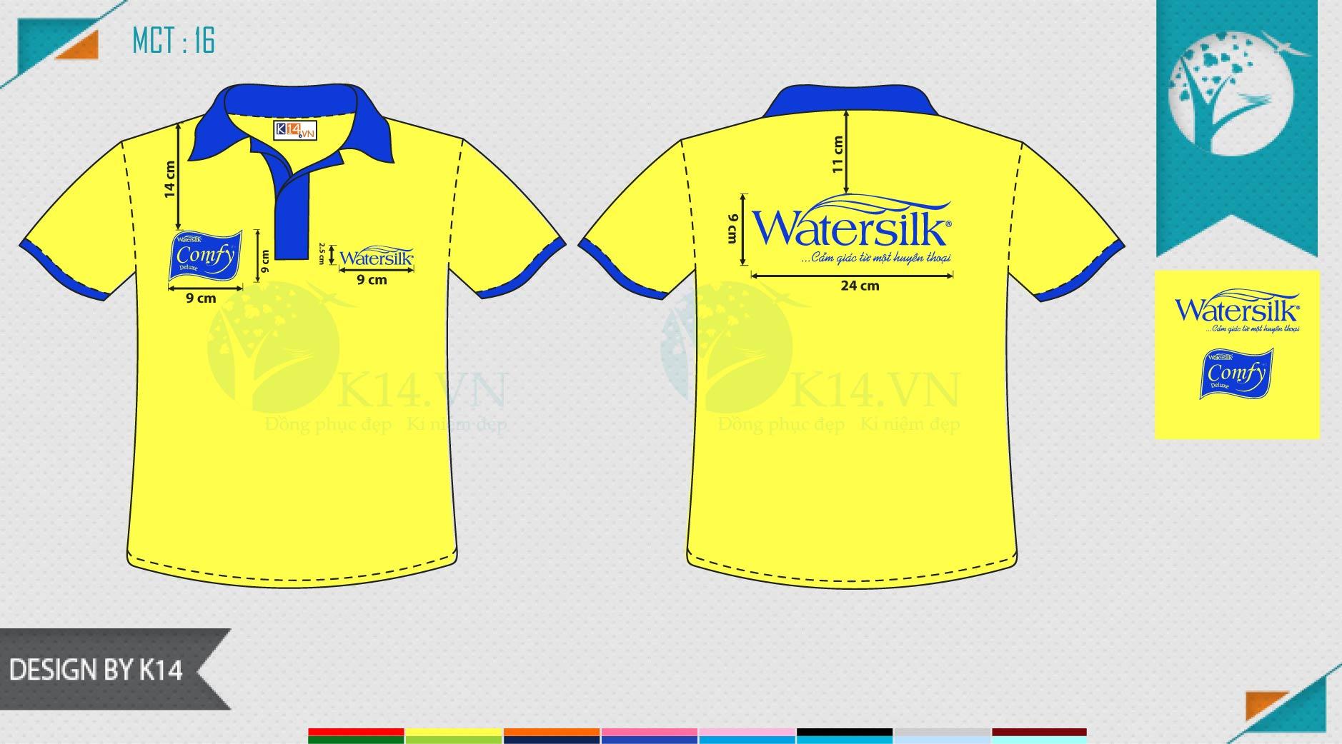 Áo đồng phục công ty water silk