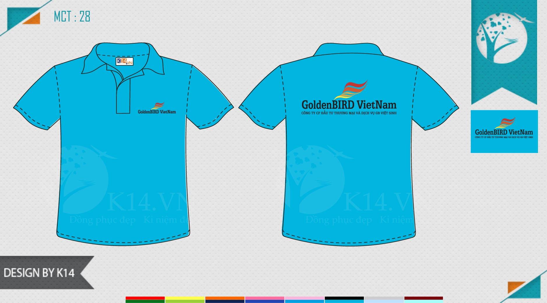 Mẫu đồng phục công ty Golden Bird