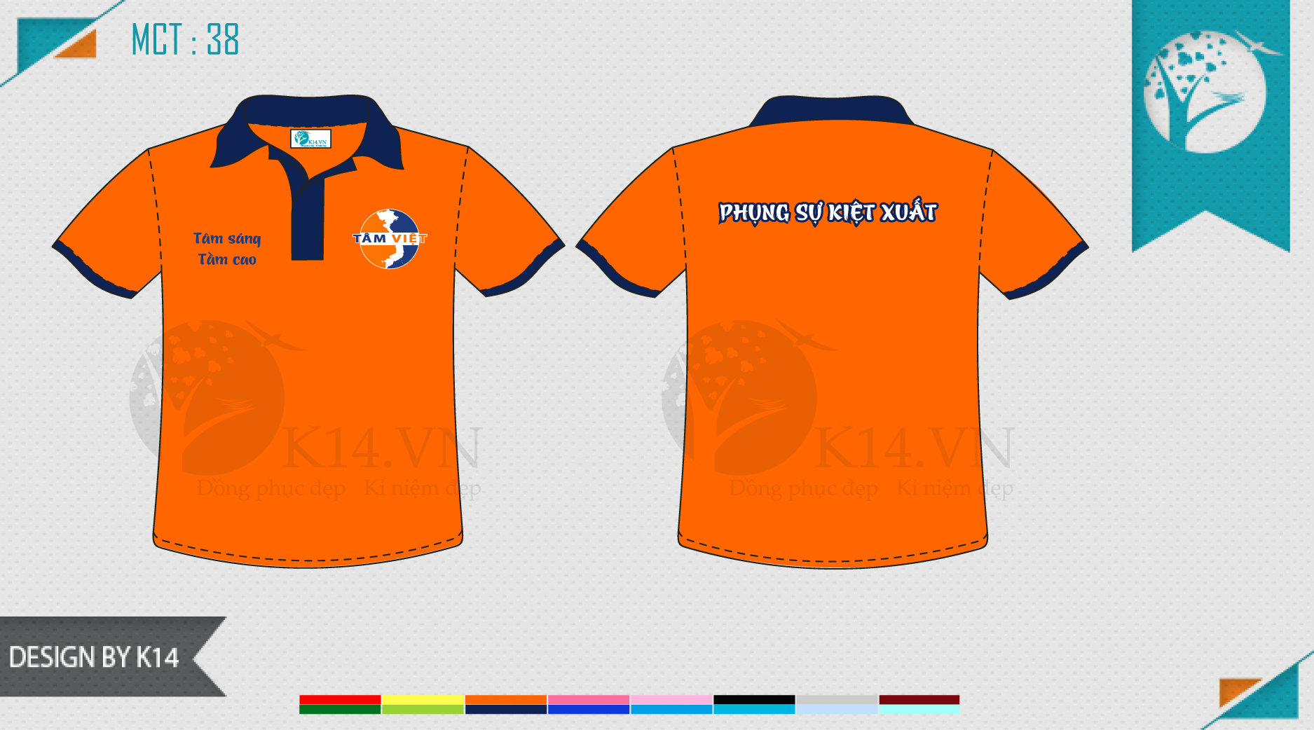 Đồng phục Tâm Việt Thiết kế sáng tạo