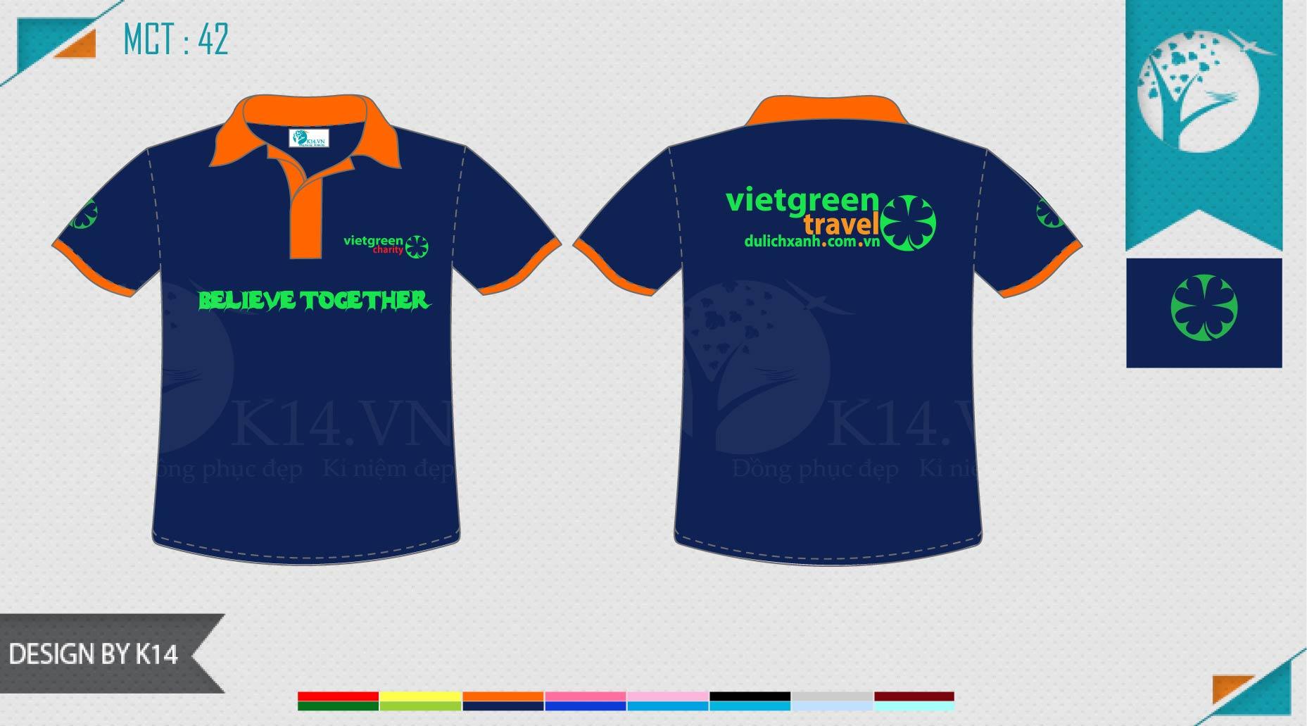 Đồng phục công ty du lịch xanh